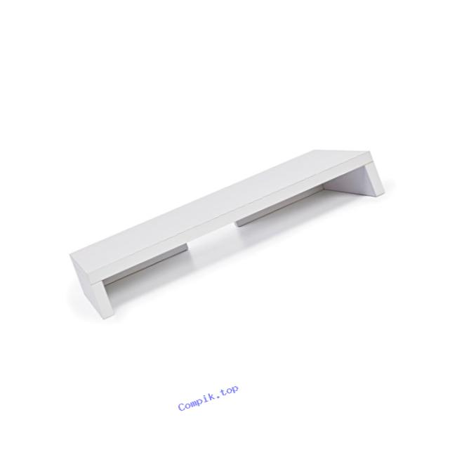 Way Basics Eco Friendly Computer Monitor Stand Riser, White (made from sustainable non-toxic zBoard paperboard)