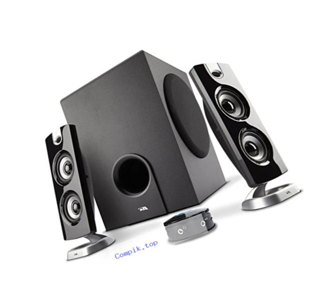 62W Desktop Computer Speaker with Subwoofer - Perfect 2.1 Gaming and Multimedia PC speakers - By Cyber Acoustics (CA-3602a)