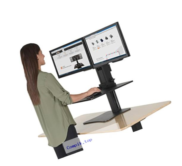 Victor DC350 High Rise Collection Dual Monitor Sit-Stand Standing Desk Converter, 28